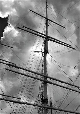 Tall Ship Masts Art Print by Robert Ullmann