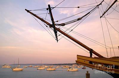 Tall Ship Mayflower II In Plymouth Massachusetts Art Print