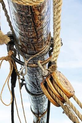 Photograph - Tall Ship Parts by Alice Gipson