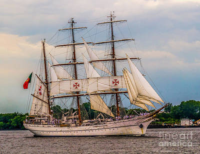 Photograph - Tall Ship - Sagres by Nick Zelinsky