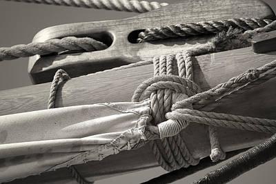 Tall Ship Sail Cloth Sepia Original