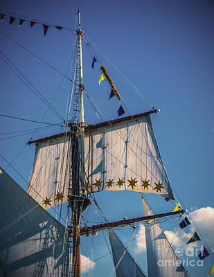 Digital Art - Tall Ship Sails 4 by Kathryn Strick