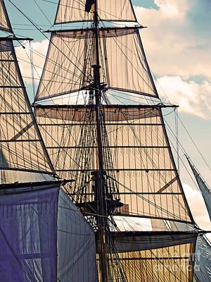 Digital Art - Tall Ship Sails I by Kathryn Strick