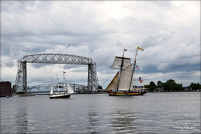 Photograph - Tall Ship Sails In Duluth Harbor by Kathy M Krause