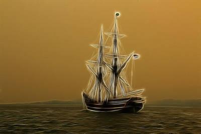 Photograph - Tall Ship by Steve McKinzie