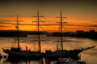 Photograph - Tall Ship Sunrise By Pedro Cardona by Pedro Cardona Llambias