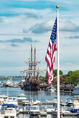 Photograph - Tall Ship Tall Flag by Christine Green