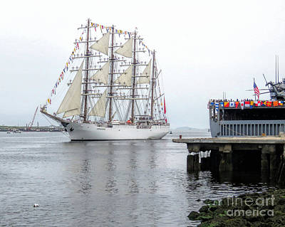 Photograph - Tall Ship Union  by Janice Drew
