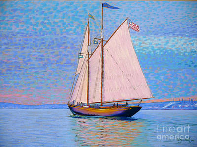 Tall Ship Virginia Entering Halifax Harbour Art Print by Rae  Smith PSC