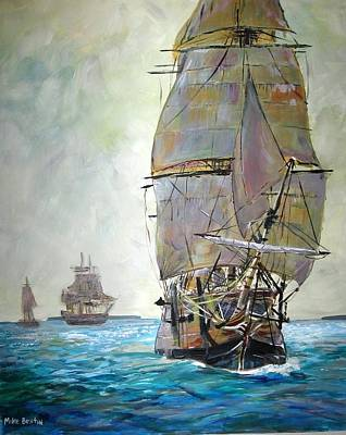 Painting - Tall Ships 2 by Mike Benton