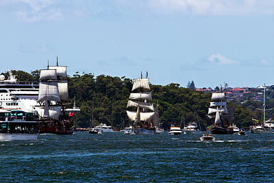 Photograph - Tall Ships And Australian Day by Miroslava Jurcik