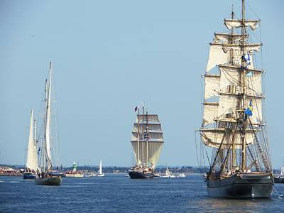 Photograph - Tallships At Aarhus by Dutch Bieber