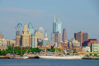 Photograph - Tall Ships At Penns Landing - Philadephia by Bill Cannon