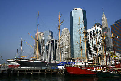 Photograph - Tall Ships At The Seaport by Christopher Kirby