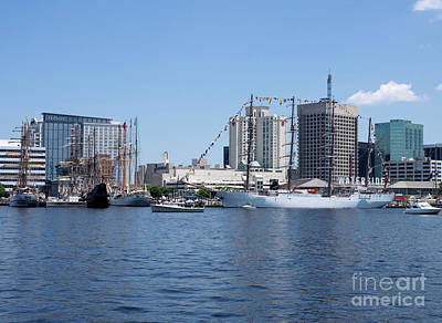 Photograph - Tall Ships Docked At Waterside In Norfolk Virginia by Louise Heusinkveld