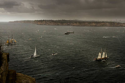 Photograph - Tall Ships In The Entrance Of Sydney Harbour by Miroslava Jurcik