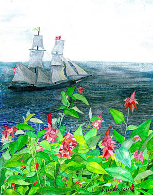 Painting - Tall Ships In Victoria Bc by Eric Samuelson
