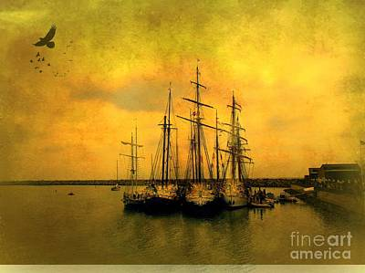 Tall Ships Of Dana Point Art Print by Kevin Moore
