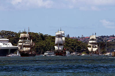 Photograph - Tall Ships On Australian Day  by Miroslava Jurcik