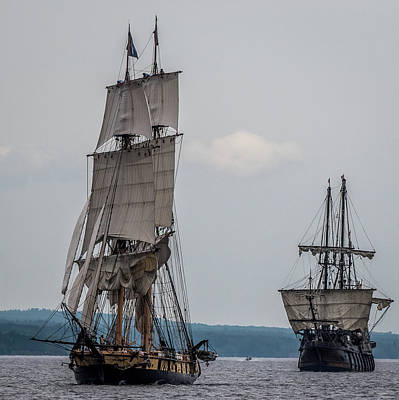 Tall Ships On Superior Art Print