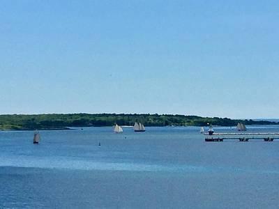Photograph - Tall Ships On The Race To Bailey Island by Patricia E Sundik