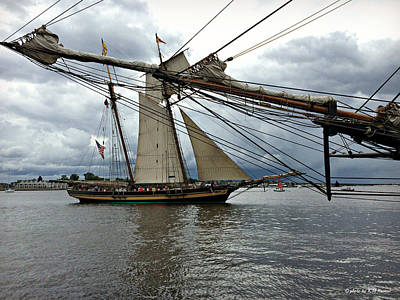 Photograph - Tall Ships Pass By Each Other by Kathy M Krause
