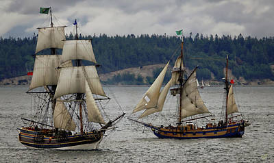 Photograph - Tall Ships by Rick Lawler