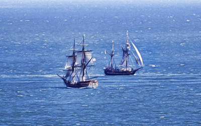Photograph - Tall Ships by Steve McKinzie