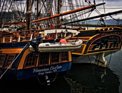 Photograph - Tall Ships In Harbor by Thom Zehrfeld