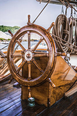 Photograph - Tall Ships Wheel by Dale Kincaid