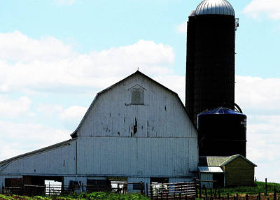 Photograph - Tall Silo by Tina M Wenger