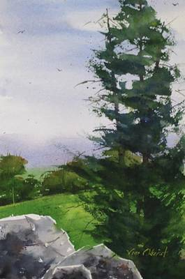 Oberst Painting - Tall Trees by Jim Oberst