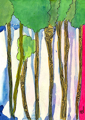 Fantasy Tree Mixed Media - Tall Trees by Tonya Doughty