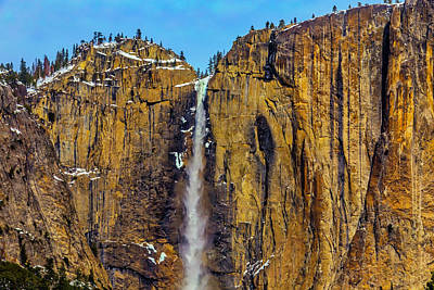 Photograph - Tall Upper Yomemite Falls by Garry Gay