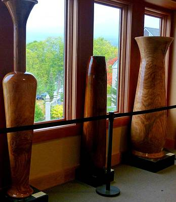 Photograph - Tall Wooden Art Vases by Will Borden