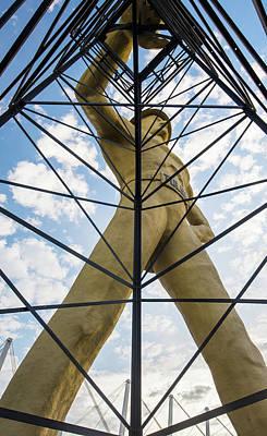 Photograph - Tall Yellow Tulsa Driller Icon by Gregory Ballos