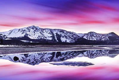 Tallac Reflections, Lake Tahoe Art Print