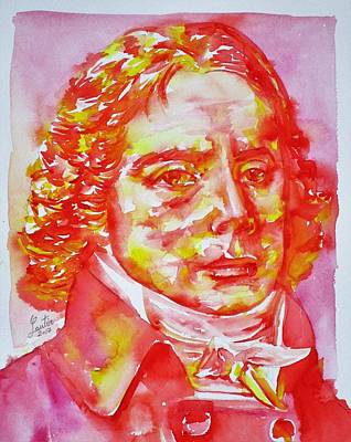 Painting - Talleyrand - Watercolor Portrait.2 by Fabrizio Cassetta