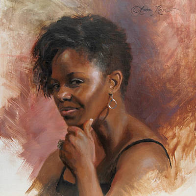 African Woman Painting - Talley's Secret by Anna Rose Bain