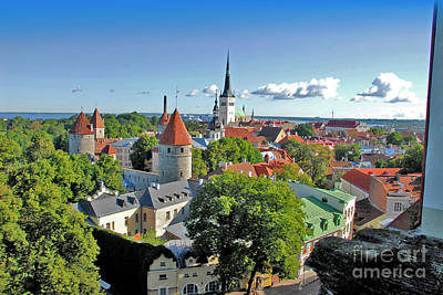 Photograph - Tallinn Estonia - 1 by Larry Mulvehill