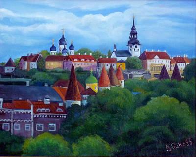 Tallinn Estonia Art Print by Janet Silkoff