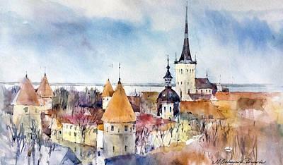 Painting - Tallinn - Estonia by Natalia Eremeyeva Duarte