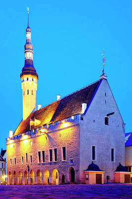 Photograph - Tallinn Town Hall by Fabrizio Troiani