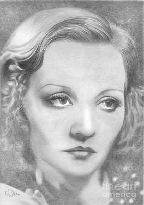 Drawing - Tallulah Bankhead by Karen Townsend