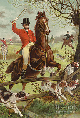 Pleasure Horse Painting - Tally Ho by English School
