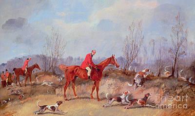 Fox Painting - Tally Ho by Samuel Henry Alken Jnr