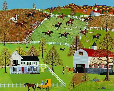 Folk Wall Art - Painting - Tally Ho by Susan Henke 8ca5e3d3090e1