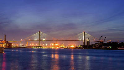 Photograph - Talmadge Memorial Bridge by Rob Sellers