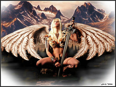 Photograph - Talon Of The Hawk Woman by Jon Volden