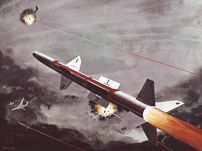 Action Drawing - Talos Surface To Air Missile by American School